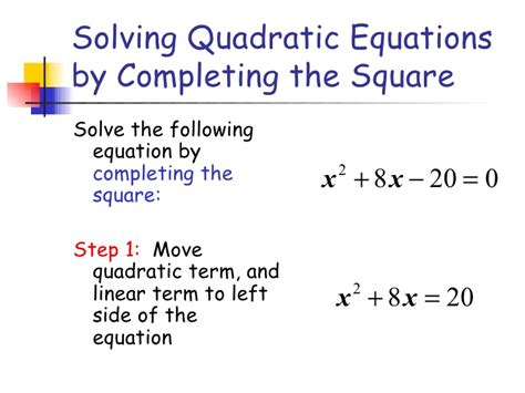 Solve By Completing The Square Worksheet by 100 Quadratic Equations Problems 1 Word Problems