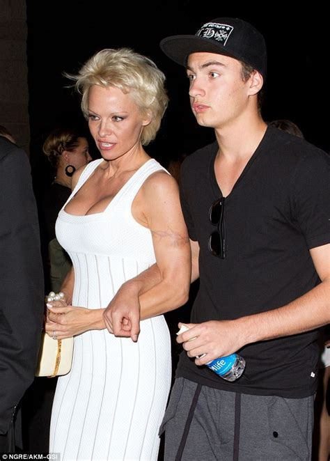 pamela andersons barbed wire tattoo is nearly invisible