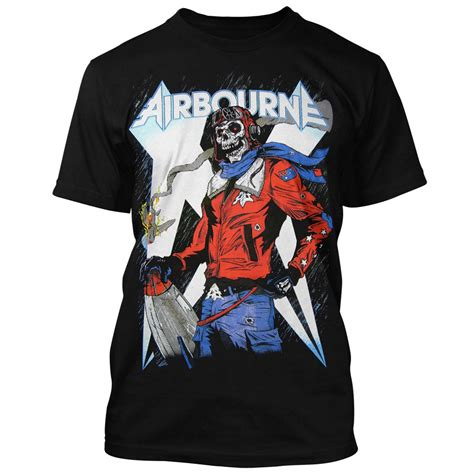 Tshirt Air Riders Clothing airbourne t shirt skeleton 19 90