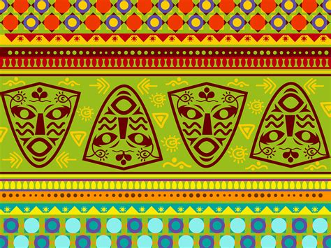 African Decoration Template Lines Ppt Backgrounds Templates Ethnic Powerpoint Templates