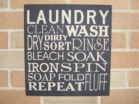 laundry painted primitive wood sign home by dawnspainting