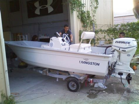 boat accessories hawaii 14 livingston cat with 2012 40hp etec sold the hull