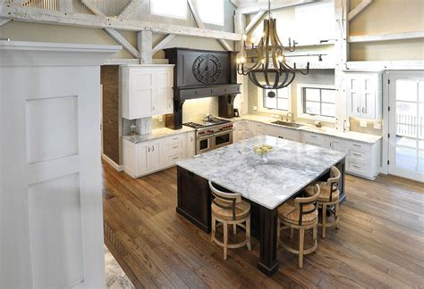 Repurposing Kitchen Cabinets by Mullet Cabinet Rebuilt Timber Frame Barn Home Kitchen