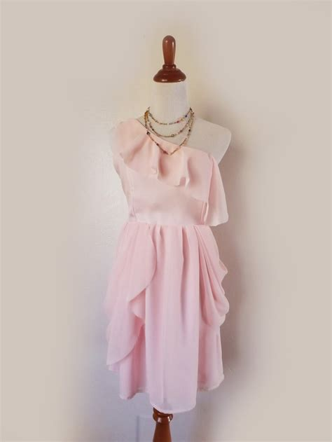Reserved For Cheryl Light Pink Chiffon Shabby Chic Shabby Chic Dresses For