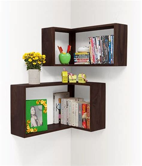 Where Can I Buy A Bookshelf Behome Corner Wall Shelf Buy 1 Get Small Free Buy Behome