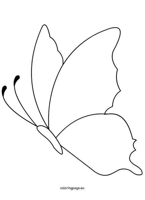 monarch butterfly template printable butterfly shape printable coloring page