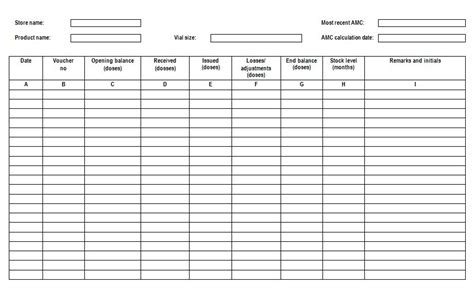 Card Played Inventory Template by Pharmaceutical And Vaccine Quality Illustrated