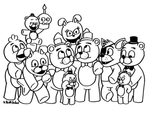 Fnaf 1 Coloring Pages by Fnaf Coloring Pages For All Fans Of Five Nights At Freddy