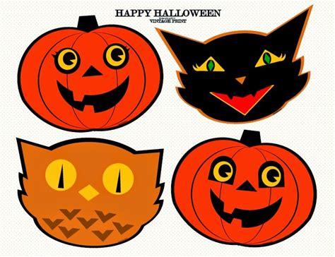 printable halloween pumpkin decorations oil and blue vintage halloween pumpkin cat owl print