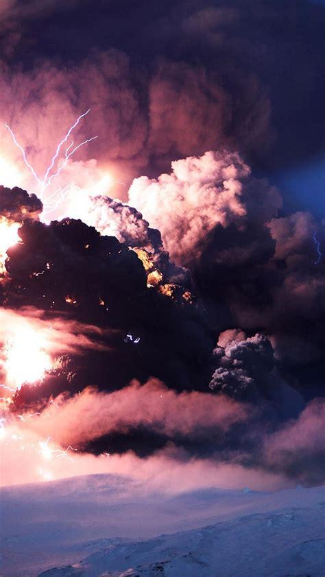 nature volcanoes iceland eruption wallpaper