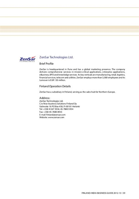 Zensar Offer Letter Finland India Business Guide