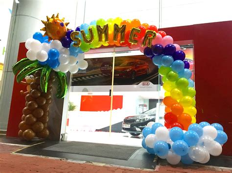 Summer theme balloon arch decorations that balloons