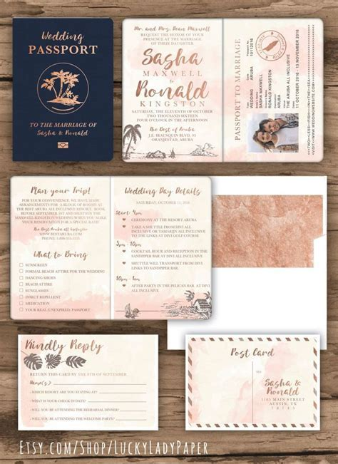 15  best ideas about Passport Invitations on Pinterest