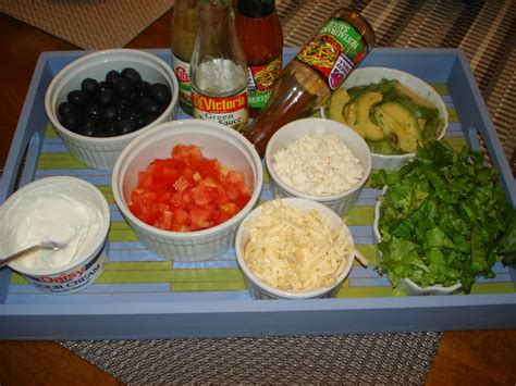 Taco Bar Toppings by Kartoffelkl 246 Sse Project Superbowl Bar Food Guacamole And