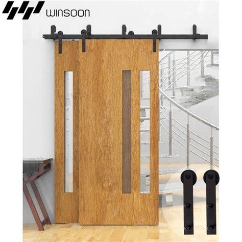 Winsoon 5 16ft Bypass Sliding Barn Door Hardware Double Bypass Sliding Barn Door Hardware