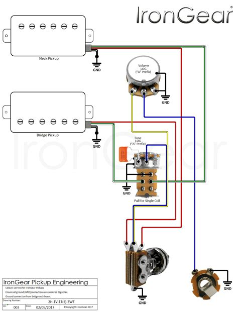 guitar wiring diagram 2 humbucker 1 volume 1 tone agnitum me