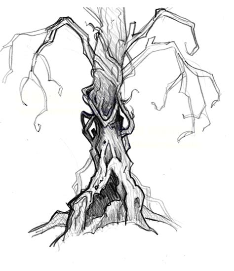 gargoyle clipart creepy pencil and creepy tree drawings www imgkid the image kid has it
