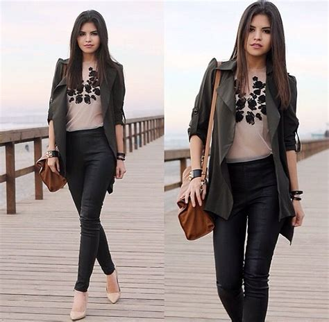 Set Cardi Flowy 85 best leather looks images on fashion