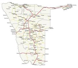 map roads detailed simplified roads map of namibia namibia detailed