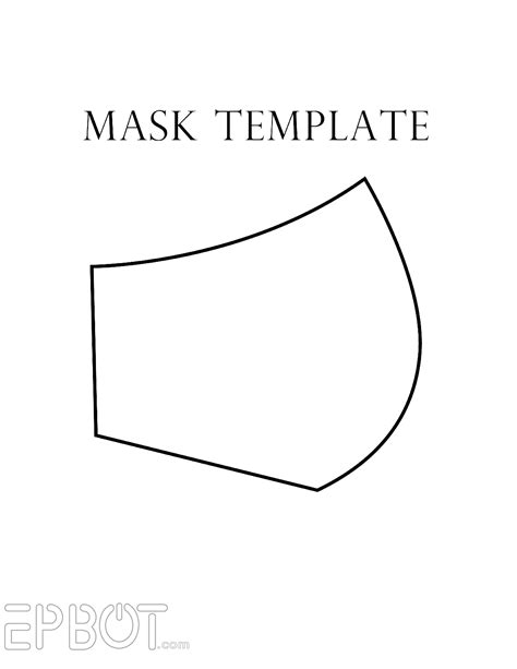 printable gas mask template epbot my faux quot respirator quot mask for cons free template