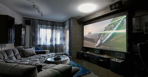 retractable home theater projector screen image mag