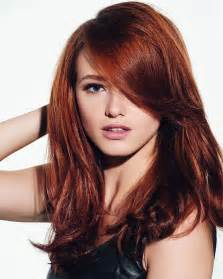 Light Copper Blonde A Long Red Hairstyle Vibrant Red Hair Edgy Pixie Cuts