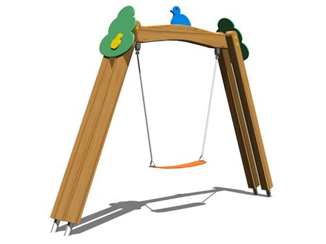 swing seesaw stainless steel and wood seesaw tree swing by legnolandia
