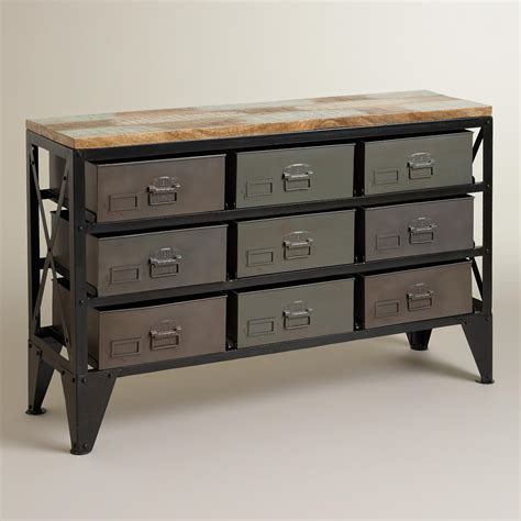 sofa table with storage bins zarina metal bin console table world market