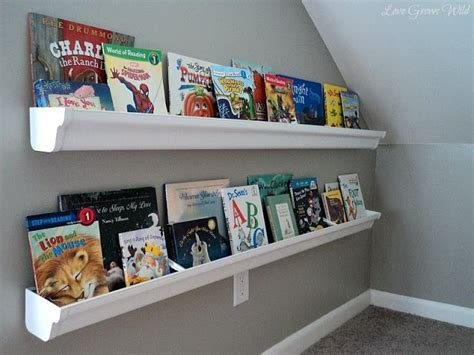 Diy Rain Gutter Book Shelves Rooooom Pinterest Gutter Shelves