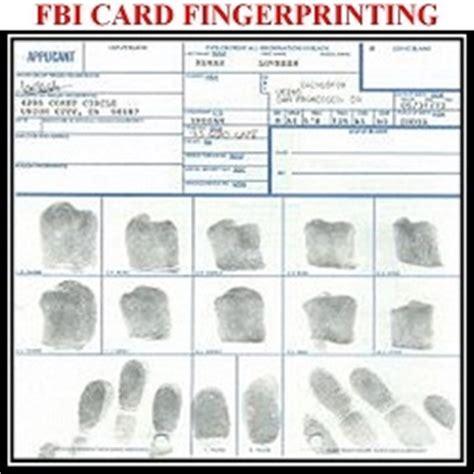Fingerprinting Card Template by Fbi Card Fingerprinting Services