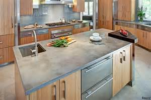 Concrete Kitchen Countertops 2016 Kitchen Countertop Trends Design Remodel