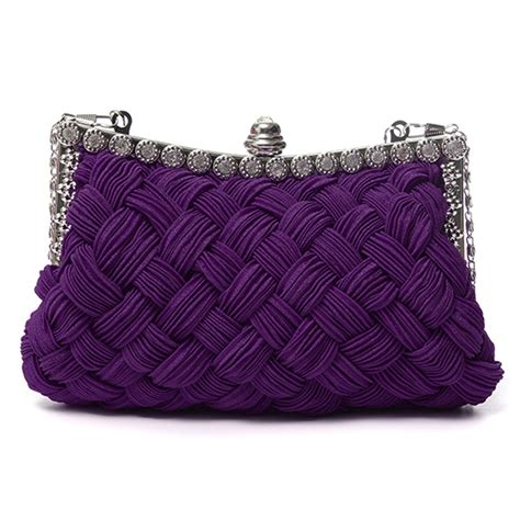 knitted clutch bag knitted clutch bag chain shoulder evening