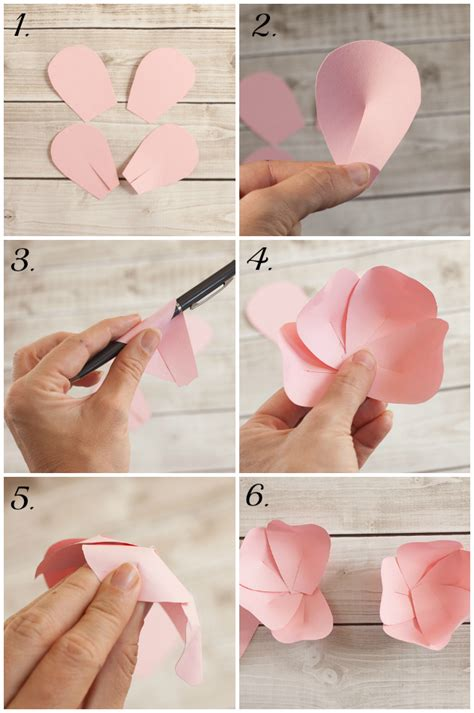 How To Make A Flower Using Paper - paper flower tutorial frog prince paperie