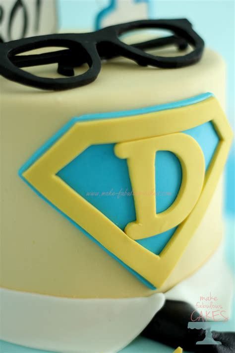 superman cake for a clark kent birthday party