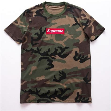 Tshirt Supreme Navy supreme tooling camo crewneck t shirt brown green supreme tooling camo