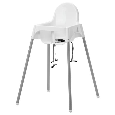 Ikea High Chair baby highchair with safety straps ikea antilop baby high chair white plastic ebay