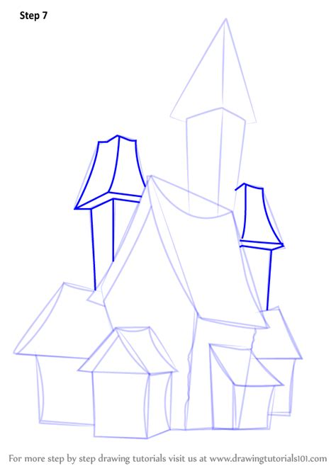 step 7 how to draw a haunted house step by step how to draw a spooky haunted house