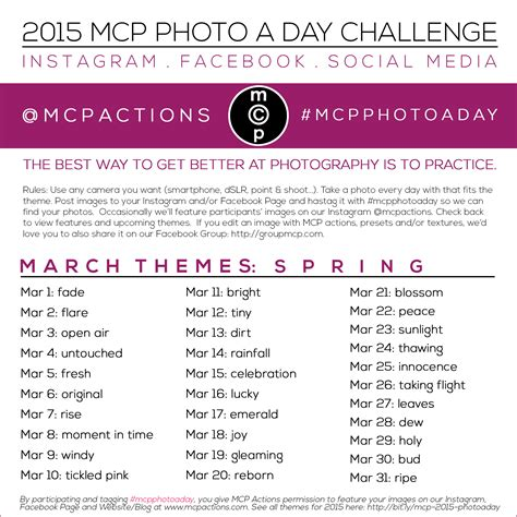 march 2015 best days mcp photo a day challenge march 2015 themes mcp