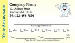dentist appointment card template dental appointment business cards appointment cards