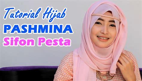 tutorial hijab pesta licin tutorial hijab pashmina page 4