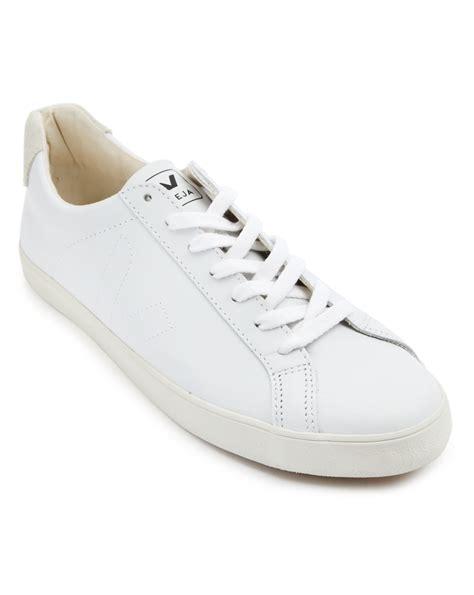 beige sneakers veja esplar leather sneakers in beige for