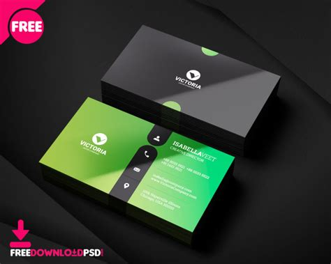 basic business card template psd free simple business card freedownloadpsd
