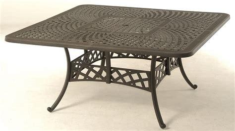 hanamint cast aluminum patio furniture berkshire by hanamint luxury cast aluminum patio furniture 64 quot square dining table