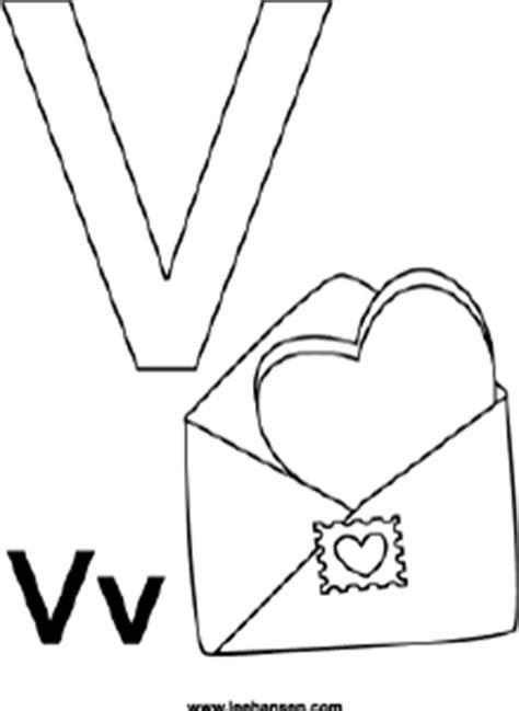 alphabet coloring pages letter v valentine printable