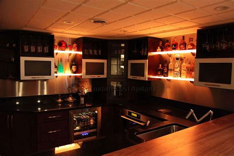 led lighting for bars led lighted shelves back bar shelving for home bars