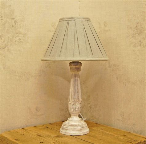 corner shabby chic table lamps made from reclaimed wooden