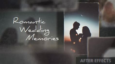 after effects free templates romantic romantic wedding memories after effects templates