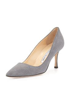 Pre Fall Manolo Blahniks Ship Mid July So You Get Summer Wear Out Of Peep Toe Shoe Styles Like This Lace Dorsay by Manolo Blahnik Bb Suede Mid Heel Gray