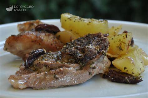 cosa cucinare per secondo ricetta agnello al forno con patate e olive le ricette