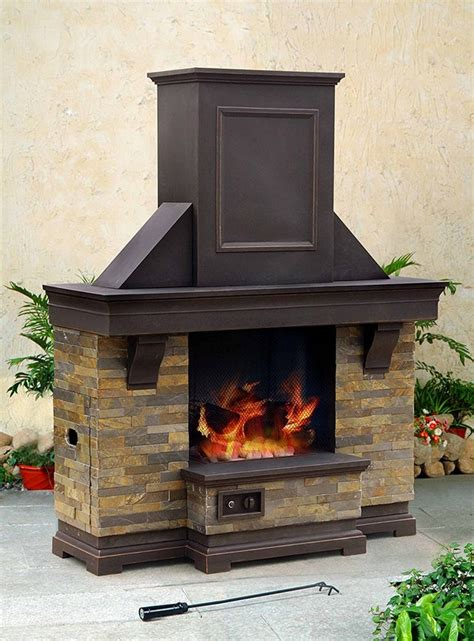 Sunjoy Fireplace by 31 Unique Outdoor Fireplace Designs Ideas And Kits